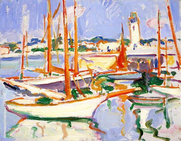 Boats at Royan 1910 By Samuel John Peploe