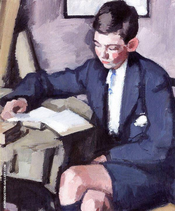 Boy Reading 1920 By Samuel John Peploe