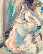 By Firelight 1908 By Samuel John Peploe