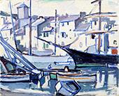 Cassis Harbour By Samuel John Peploe
