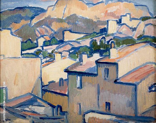 Cassis Rooftops 1913 By Samuel John Peploe