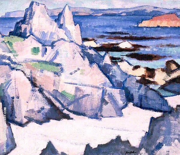 Cathedral Rock Iona 1920 Painting By Samuel John Peploe