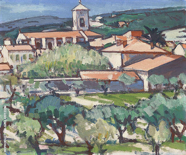 Church at Cassis c1924 Painting By Samuel John Peploe