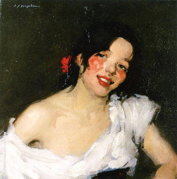 Gypsy c1897 Painting By Samuel John Peploe - Reproduction Gallery