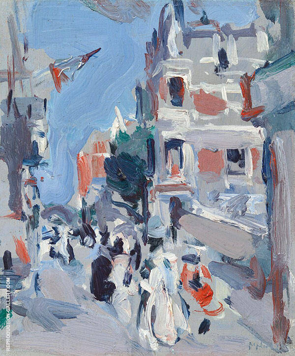 Paris Plage by Samuel John Peploe | Oil Painting Reproduction Replica On Canvas - Reproduction Gallery