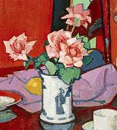 Pink Roses Chinese Vase 1916 By Samuel John Peploe