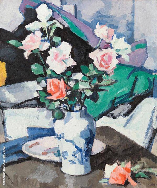 Roses Painting By Samuel John Peploe - Reproduction Gallery