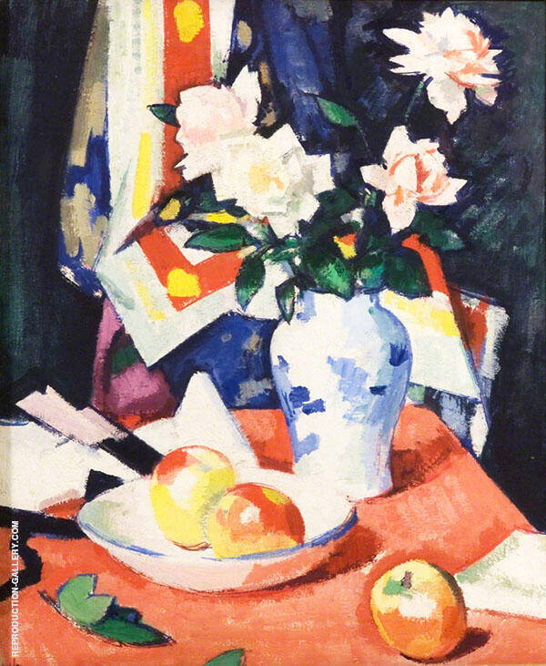 Roses and Still Life Painting By Samuel John Peploe - Reproduction Gallery