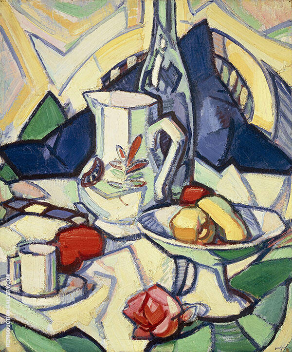 Still Life by Samuel John Peploe | Oil Painting Reproduction Replica On Canvas - Reproduction Gallery