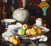 Still Life Apples and Jar c1912 By Samuel John Peploe