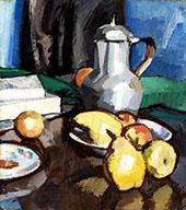 Still Life with Pewter Coffee Pot By Samuel John Peploe