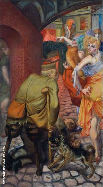 Metropolis Die Grosstadt 1928 Left Panel Painting By Otto Dix