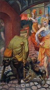 Metropolis Die Grosstadt 1928 Left Panel By Otto Dix