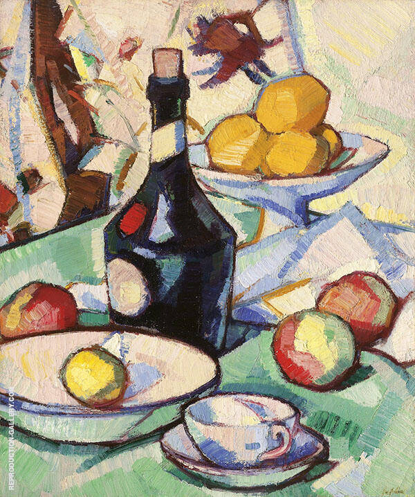 The Benedictine Bottle 1914 By Samuel John Peploe