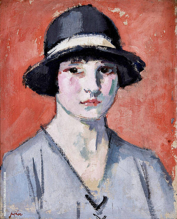 The Black Hat Painting By Samuel John Peploe - Reproduction Gallery