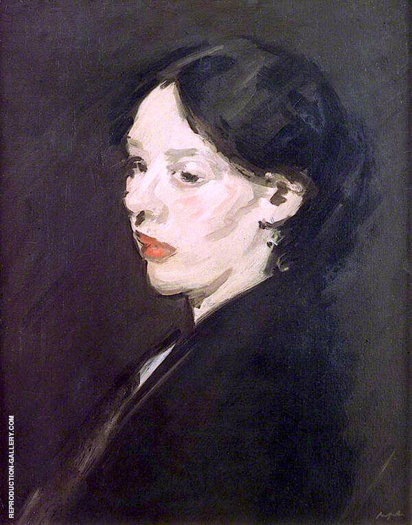 The Black Shawl 1904 by Samuel John Peploe | Oil Painting Reproduction Replica On Canvas - Reproduction Gallery