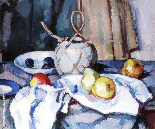 The Ginger Jar c1926 Painting By Samuel John Peploe - Reproduction Gallery