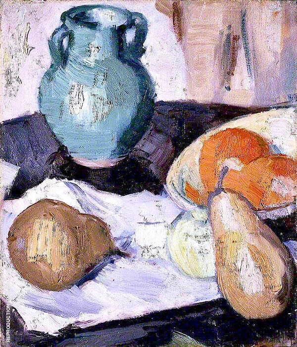 The Green Jar Painting By Samuel John Peploe - Reproduction Gallery