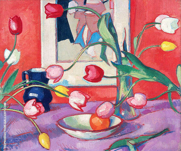Tulips Painting By Samuel John Peploe - Reproduction Gallery