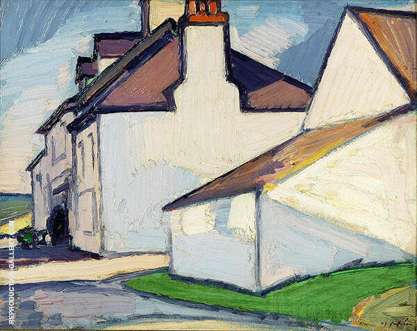 White House Painting By Samuel John Peploe - Reproduction Gallery