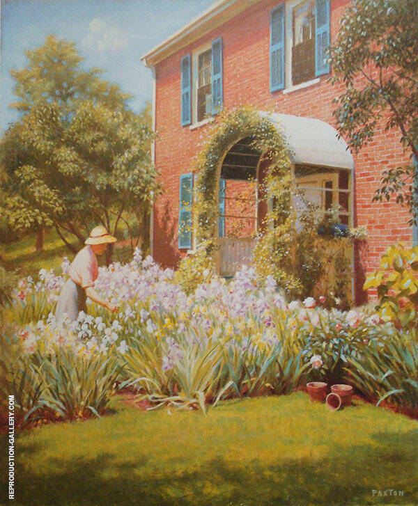 Betty in The Garden Painting By William M Paxton - Reproduction Gallery