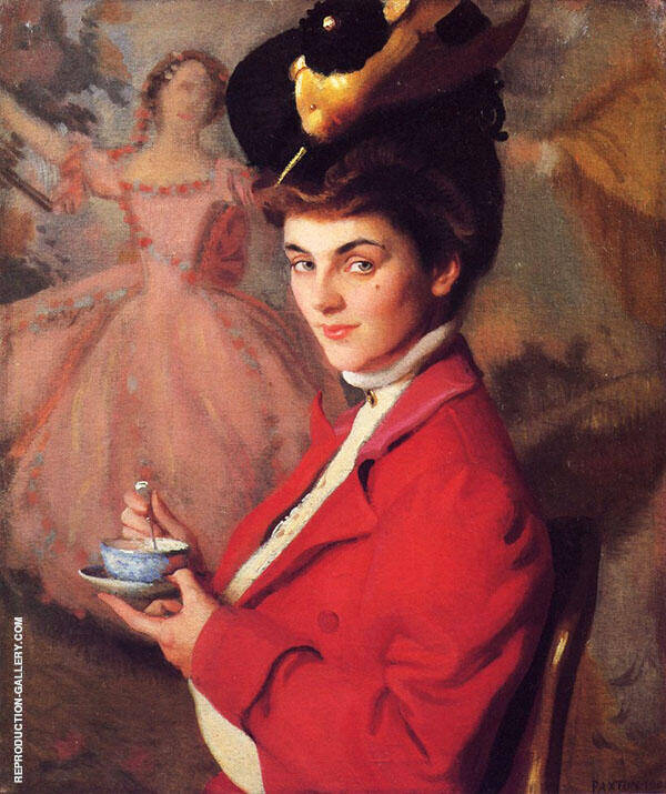 Cherry also known as The Gay Nineties Painting By William M Paxton
