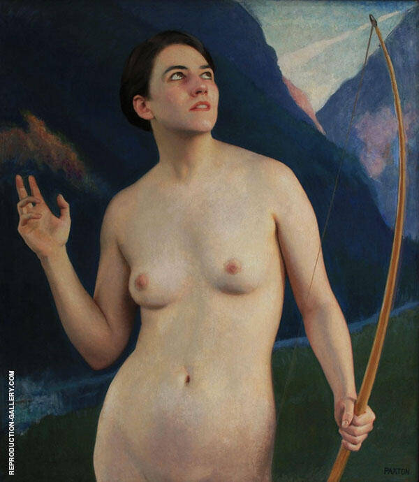 Diana of The Peaks Painting By William M Paxton - Reproduction Gallery