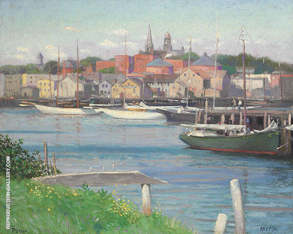 Gloucester Harbor By William M Paxton