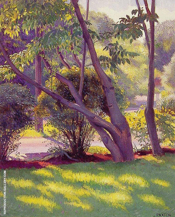 Lawn at Newton By William M Paxton
