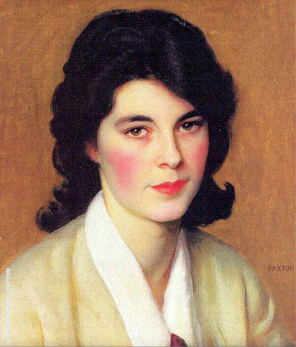 Portrait of Enid Hallin By William M Paxton