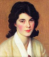 Portrait of Enid Hallin By William M Paxton