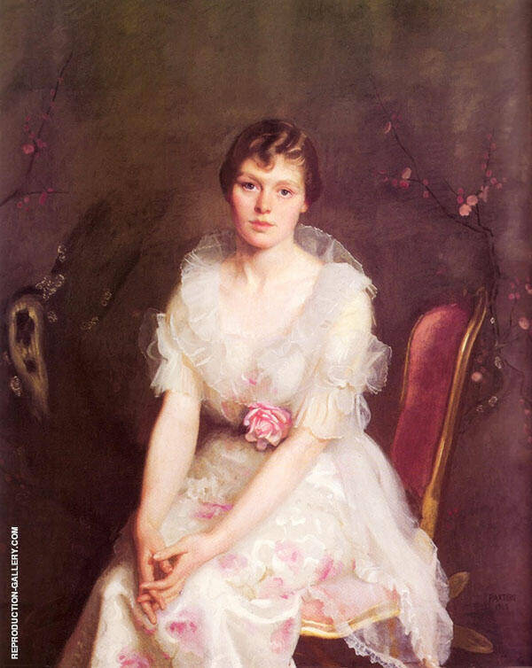 Portrait of Louise Converse By William M Paxton