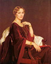 Portrait of Mrs Charles Frederic Toppan By William M Paxton
