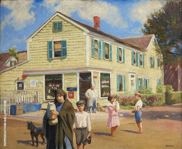 Provincetown Street The Corner Grocery By William M Paxton