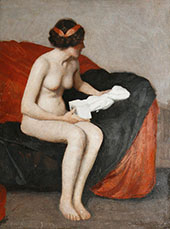 Seated Nude with Sculpture By William M Paxton