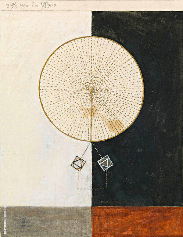 Untitled 1920 Painting By Hilma AF Klint - Reproduction Gallery