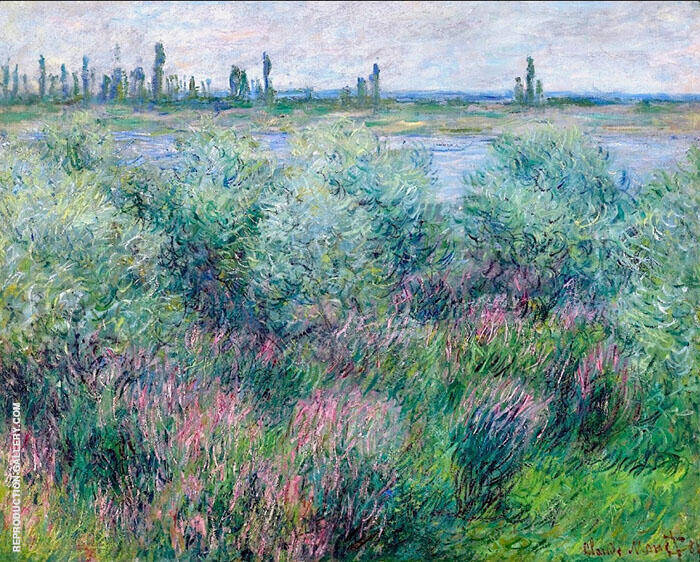 Banks of the Seine 1881 by Claude Monet | Oil Painting Reproduction Replica On Canvas - Reproduction Gallery