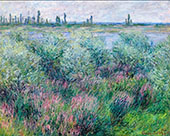 Banks of the Seine 1881 By Claude Monet