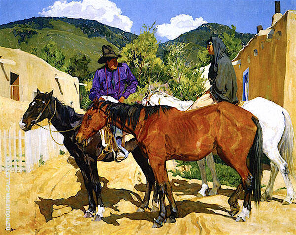 Discussion 1926 Painting By Walter Ufer - Reproduction Gallery