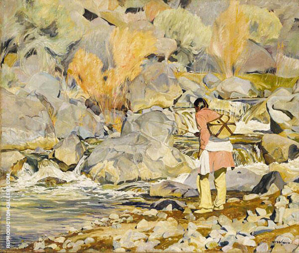 Them 1928 Painting By Walter Ufer - Reproduction Gallery