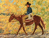 A Ride in Autumn By Walter Ufer