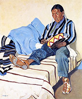 A Singing Indian By Walter Ufer