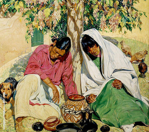 Autumn 1919 Painting By Walter Ufer - Reproduction Gallery