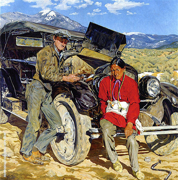 Bob Abbott and His Assistant 1935 Painting By Walter Ufer