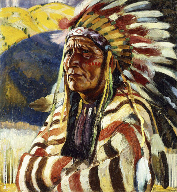 Chief Thundercloud Painting By Walter Ufer - Reproduction Gallery