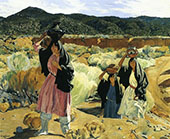 Coming from The Spring 1927 By Walter Ufer