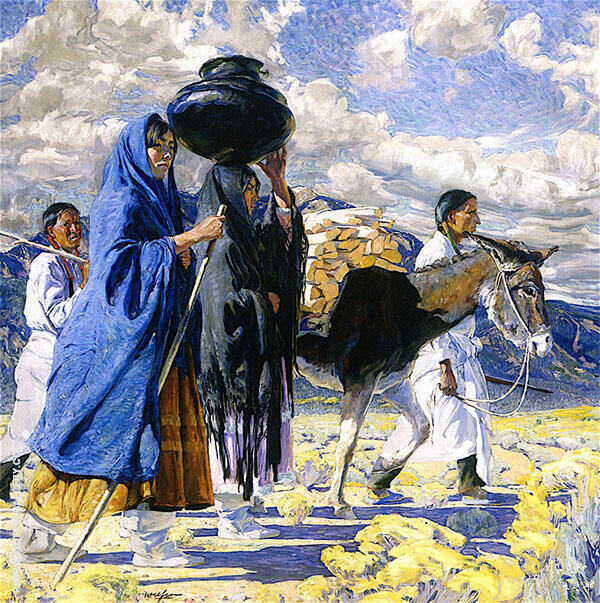 Going East 1917 Painting By Walter Ufer - Reproduction Gallery