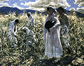 Indian Corn By Walter Ufer