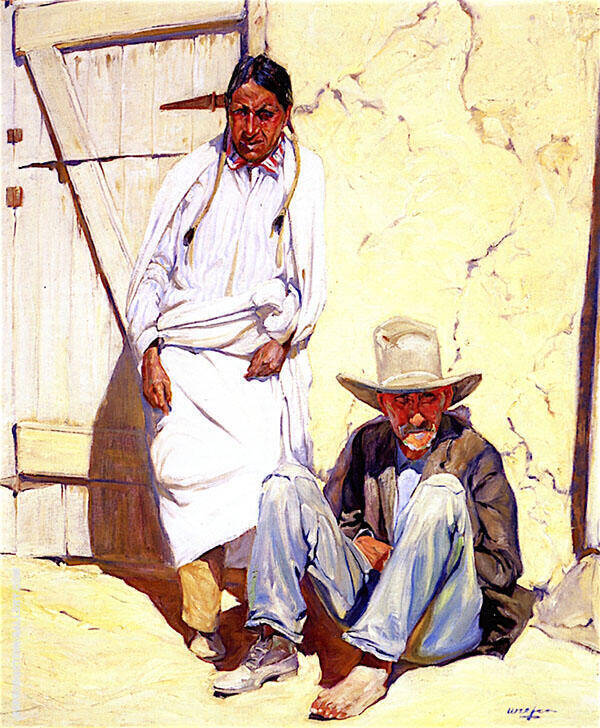In Taos 1918 Painting By Walter Ufer - Reproduction Gallery