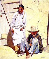 In Taos 1918 By Walter Ufer